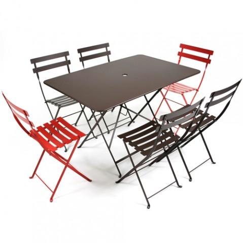 grande table bistro fermob coquelicot
