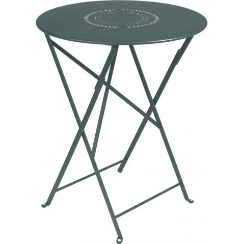 TABLE FLOREAL 60CM GRIS ORAGE de FERMOB