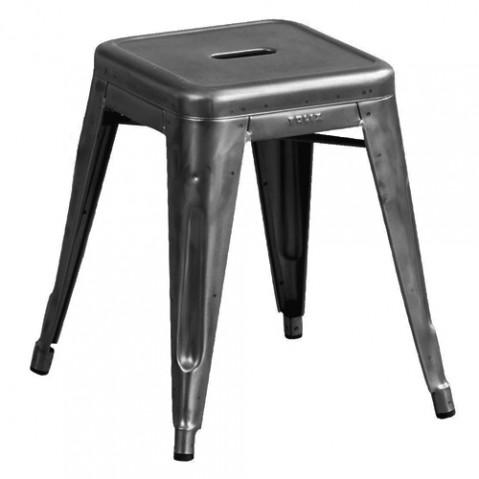 H45 tabouret Design Tolix Brut Verni Mat
