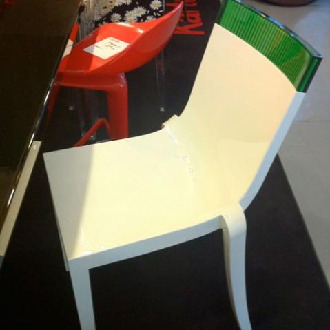 Hi Cut Chaise Design Kartell Blanc Orange