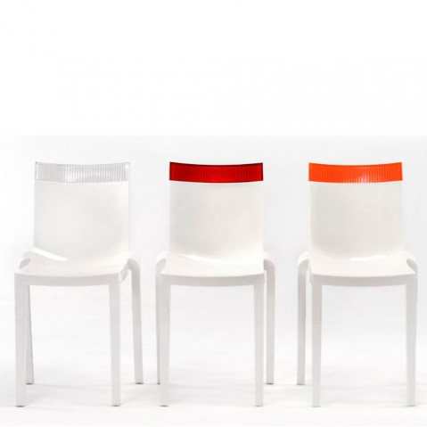 Hi Cut Chaise Design Kartell Blanc Orange