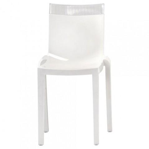 Hi cut Chaise Design Kartell Blanc Cristal