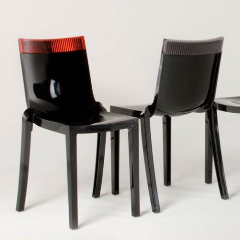 Hi cut Chaise Design Kartell Noir Violet