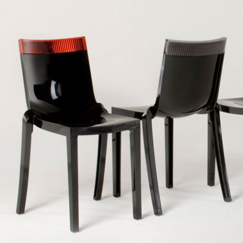 Hi Cut Chaise Design Kartell Noir Fume