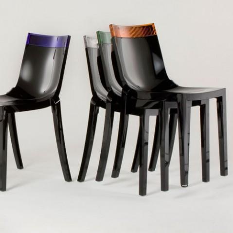 Hi Cut Chaise Design Kartell Noir Orange