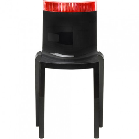 Hi Cut Chaise Design Kartell Noir Rouge