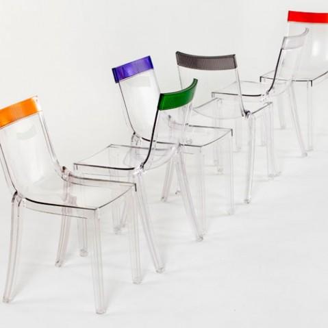 Hi Cut Chaise Design Kartell Transparent Violet