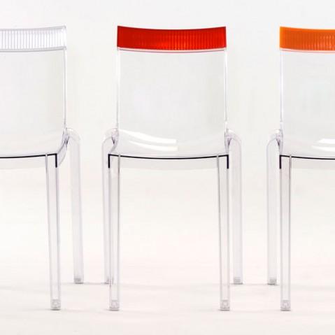 Hi Cut Chaise Design kartell Transparent Fumé