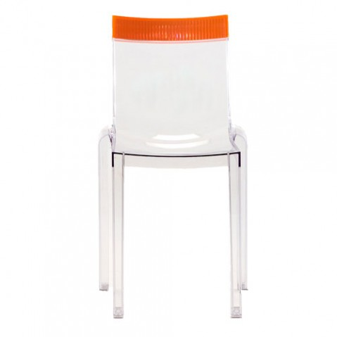 Hi Cut Chaise Design Kartell Transparent Orange