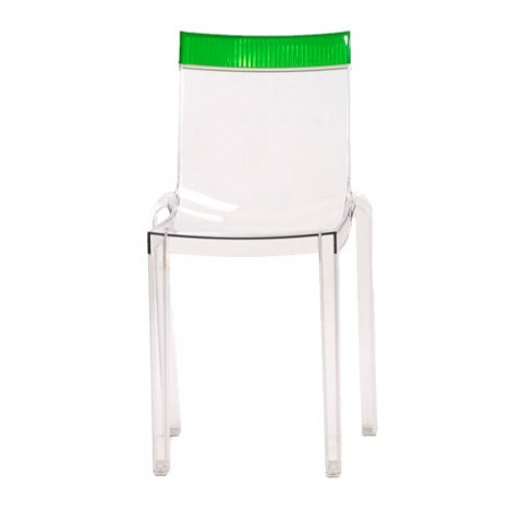 Hi Cut Chaise Design Kartell Transparent Vert
