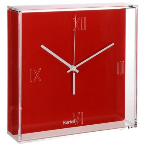 horloge tic tac kartell rouge