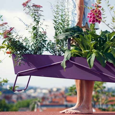 jardiniere basket long fermob carbone