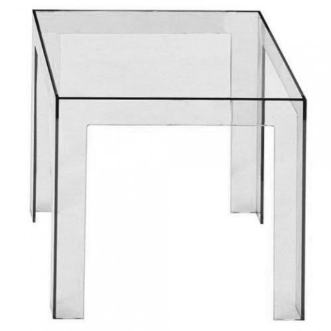 Jolly Table Basse Design Kartell Fumé Clair