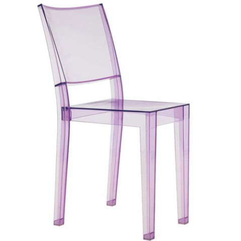 chaise la marie violet transparent de kartell. Black Bedroom Furniture Sets. Home Design Ideas