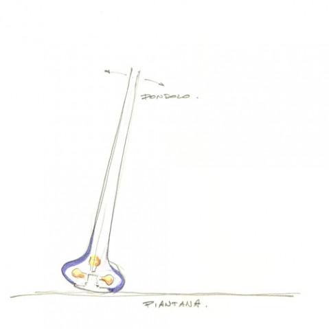 lampadaire basculant pin martinelli luce