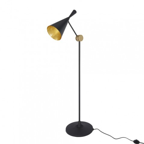 lampadaire beat light tom dixon noir laiton