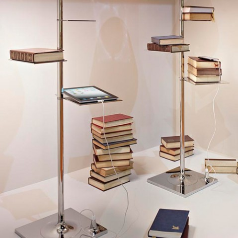 lampadaire bibliotheque nationale flos tissu
