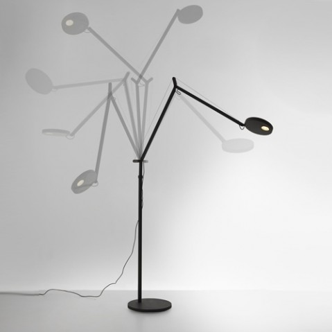 lampadaire demetra led artemide gris