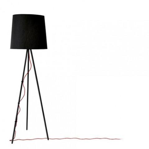 lampadaire eva martinelli luce noir noir