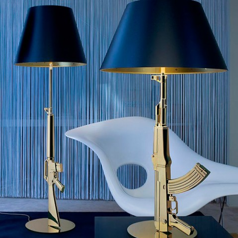 lampadaire guns flos or
