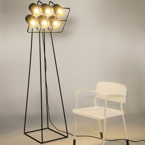 lampadaire multilamp seletti noir