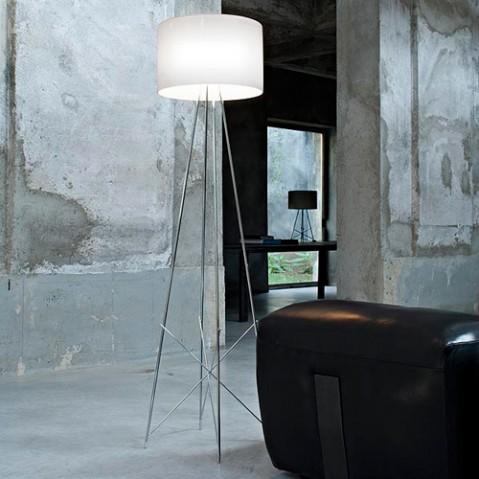 lampadaire ray flos aluminium blanc