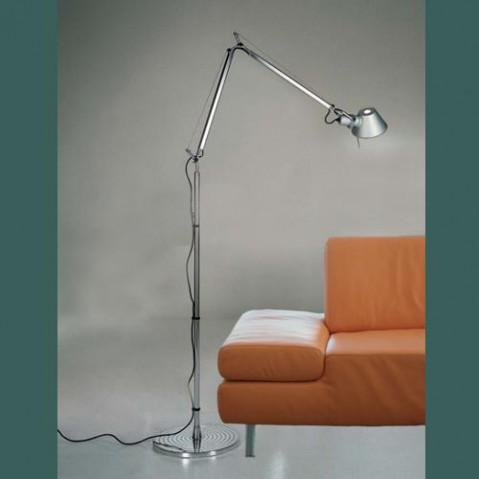 lampadaire tolomeo halogene artemide aluminium