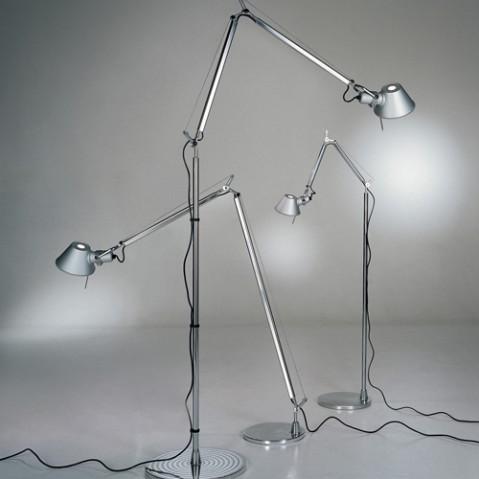 lampadaire tolomeo halogene artemide blanc