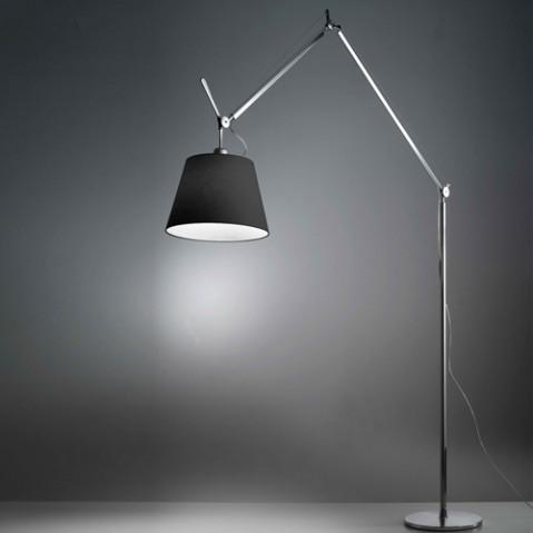 lampadaire tolomeo mega artemide 42 satin noir