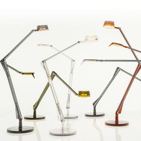 lampe poser aledin tec kartell transparent