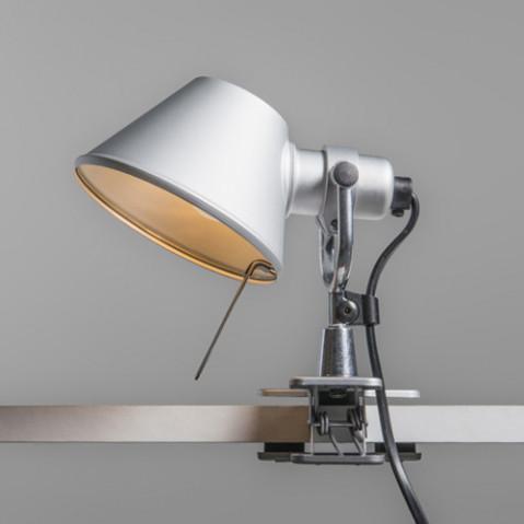 lampe pince tolomeo pinza artemide halogene aluminium