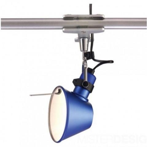 lampe pince tolomeo micro pinza artemide bleu