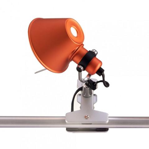 lampe pince tolomeo micro pinza artemide orange