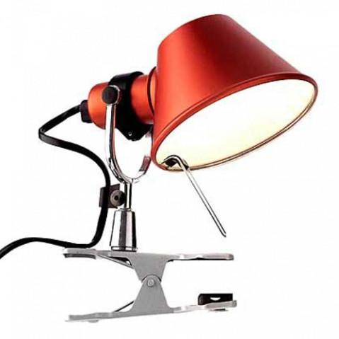 lampe pince tolomeo micro pinza artemide rouge