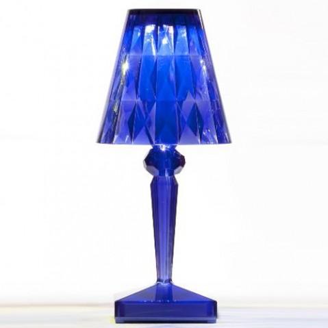 lampe poser battery kartell bleu