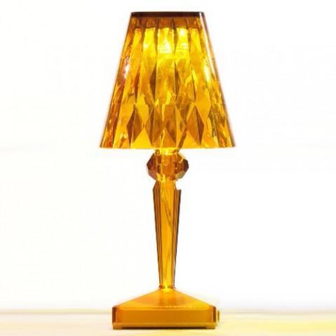 lampe poser battery kartell ambre