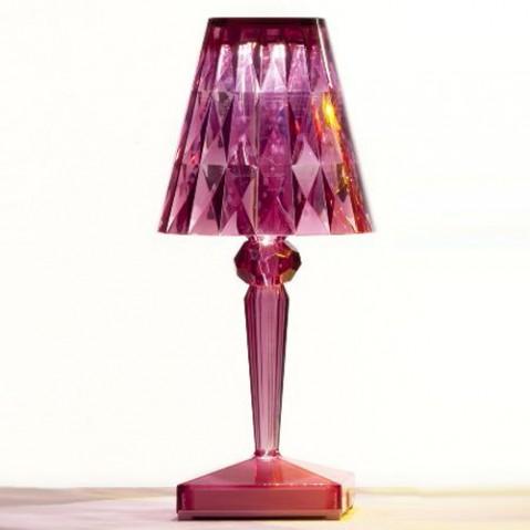 lampe poser battery kartell rose
