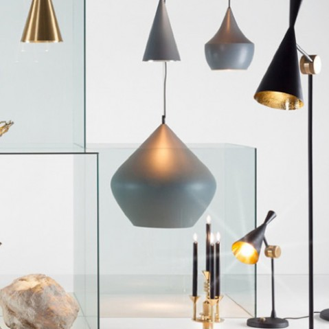 lampe poser beat light tom dixon laiton