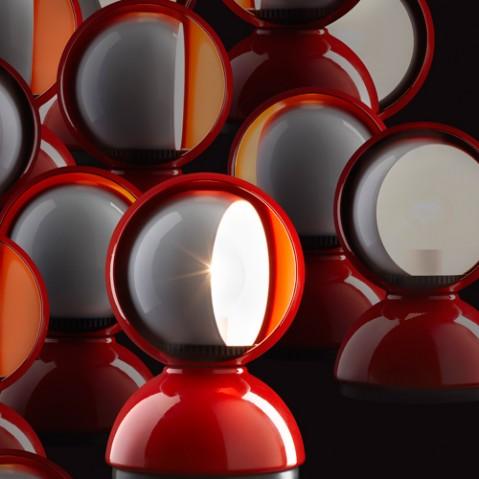 lampe poser eclisse artemide rouge
