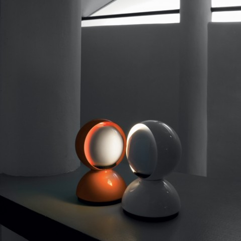 lampe poser eclisse artemide orange
