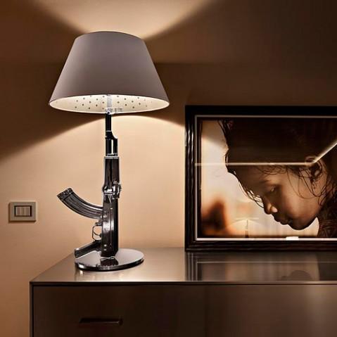 lampe poser guns flos chrome