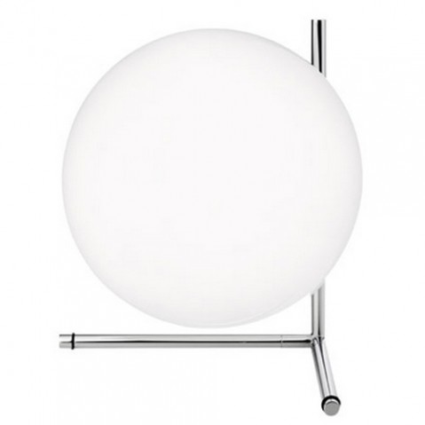 lampe poser ic t2 flos chrome