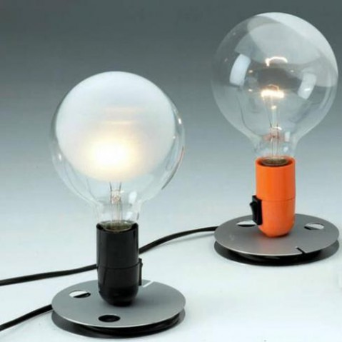 lampe poser lampadina flos noir
