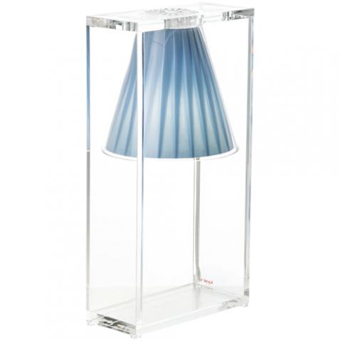 lampe poser light air kartell bleu