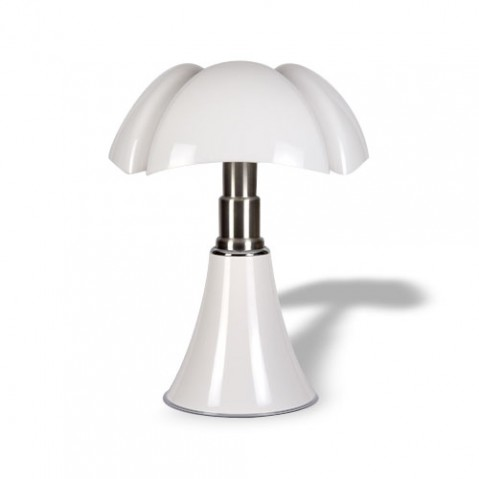 mini pipistrello d lampe a poser led on off sensitif blanc de martinelli luce. Black Bedroom Furniture Sets. Home Design Ideas