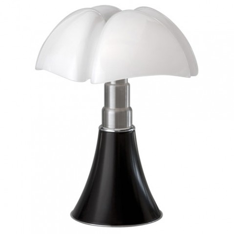 lampe poser mini pipistrello led martinelli luce marron
