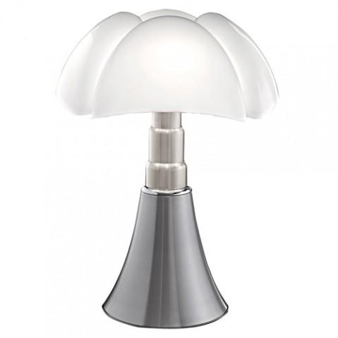 lampe pipistrello led martinelli luce aluminium satine