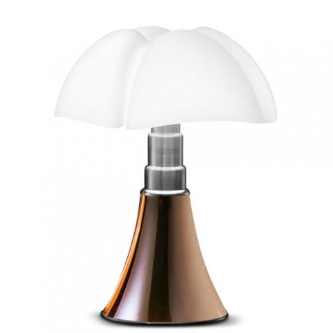lampe poser mini pipistrello led martinelli luce cuivre