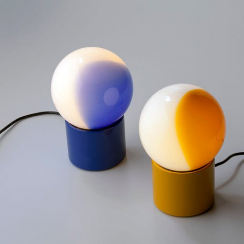 lampe poser pulce martinelli luce jaune