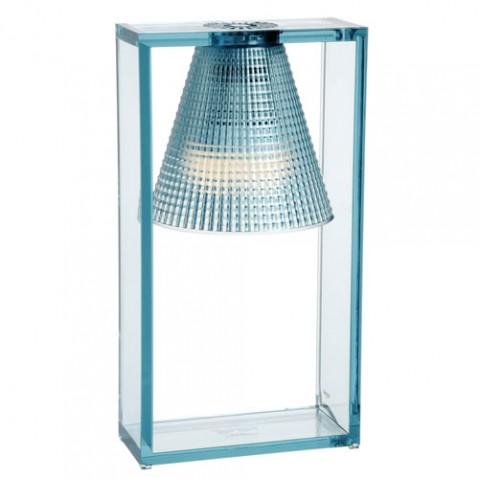 lampe poser light air sculptee kartell bleu